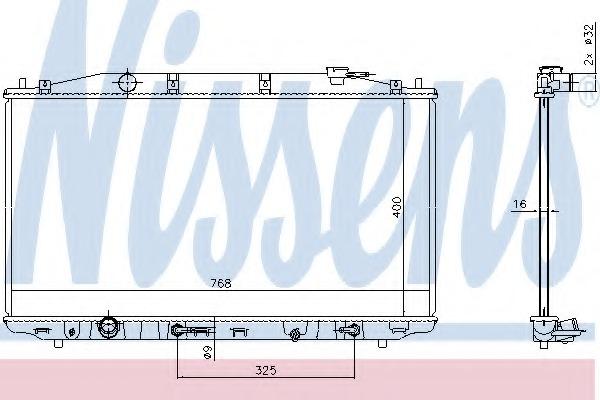 68138 NISSENS Радиатор, охлаждение двигателя
