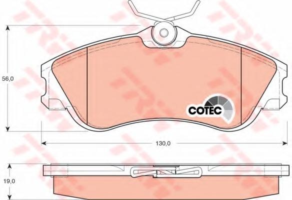 GDB1295 TRW Колодки тормозные дисковые, комплект
