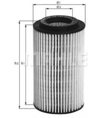 Масляный фильтр MAHLE/KNECHT OX153D3