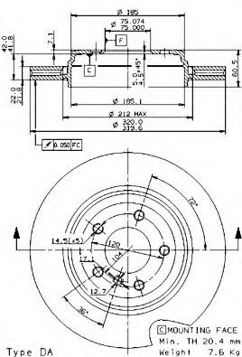 09959010 BREMBO Тормозной диск