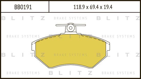 BB0191 BLITZ Колодки тормозные дисковые