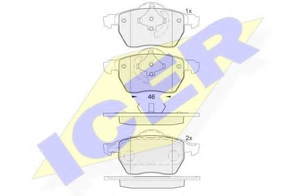181767 ICER 181767_колодки дисковые передние