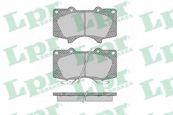 05P1379 LPR Комплект тормозных колодок 05P1379