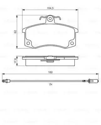 0986495360 BOSCH Комплект тормозных колодок, дисковый тормоз