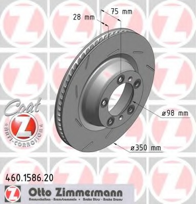 460158720 ZIMMERMANN Тормозной диск