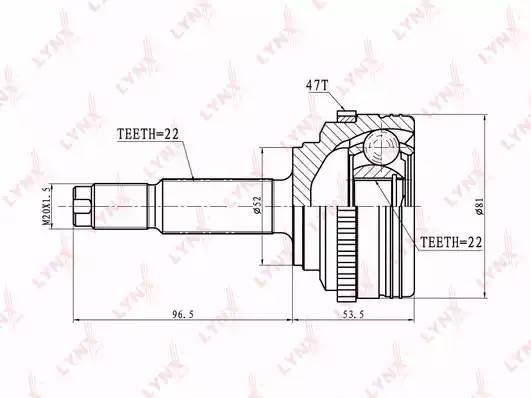CO1825A LYNX ШРУС наружный