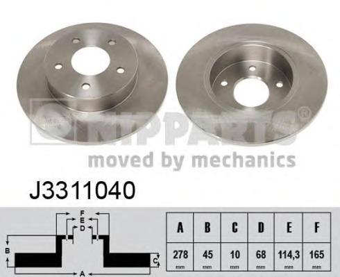 J3311040 NIPPARTS Тормозной диск