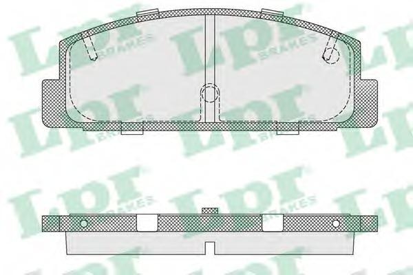 05P876 LPR Комплект тормозных колодок, дисковый тормоз