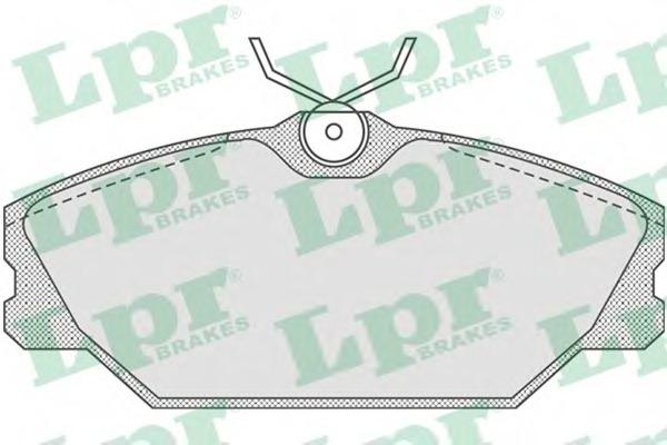 05P816 LPR Комплект тормозных колодок, дисковый тормоз