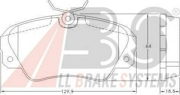 36749 ABS Комплект тормозных колодок, дисковый тормоз