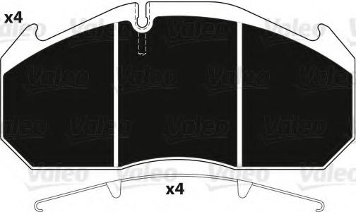 882211 VALEO Комплект тормозных колодок, дисковый тормоз