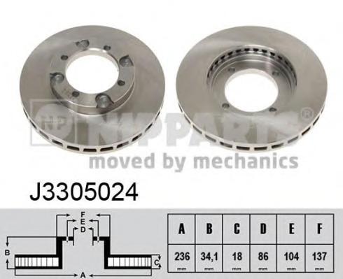 J3305024 NIPPARTS Тормозной диск