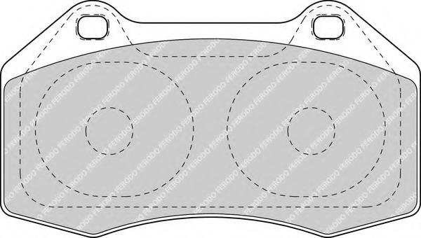 FDB1667 FERODO Комплект тормозных колодок, дисковый тормоз