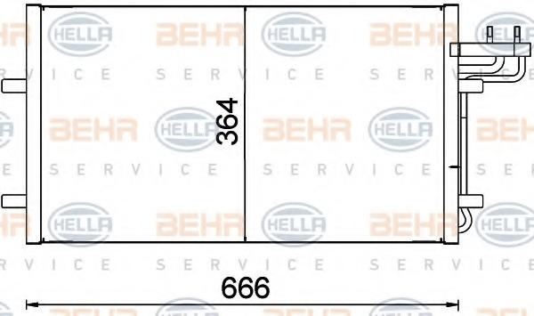 8FC351301734 BEHR-HELLA Радиатор кондиционера