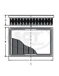 Воздушный фильтр SCT SB537