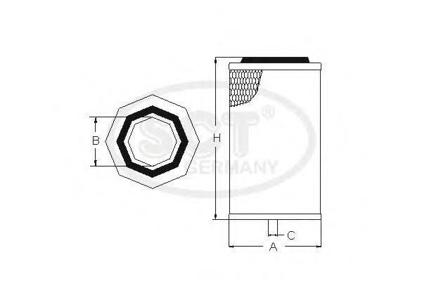 SB3090 SCT Воздушный фильтр
