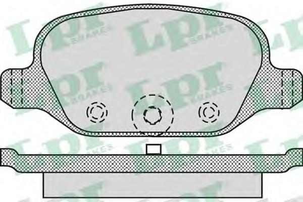 05P1265 LPR Комплект тормозных колодок, дисковый тормоз