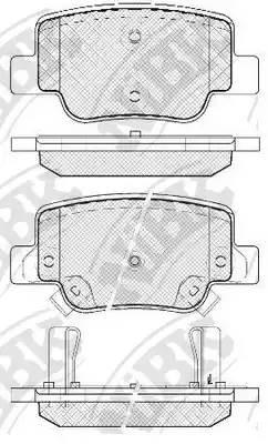 PN1842 NIBK Колодки тормозные дисковые