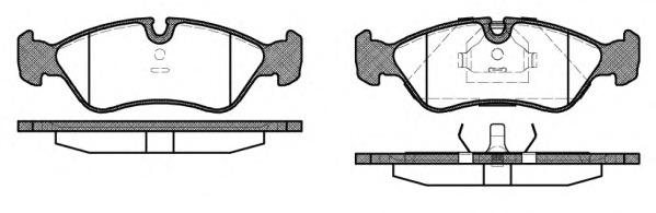 Комплект тормозных колодок, дисковый тормоз ROAD HOUSE 228610