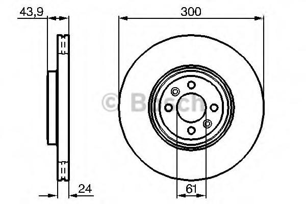 0986479209 BOSCH Тормозной диск