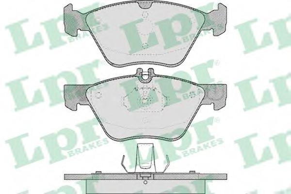 05P406 LPR Колодки тормозные передние