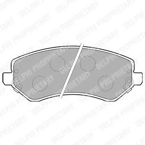 LP1773 DELPHI Колодки тормозные дисковые, комплект