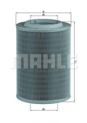 LX314 MAHLE Воздушный фильтр