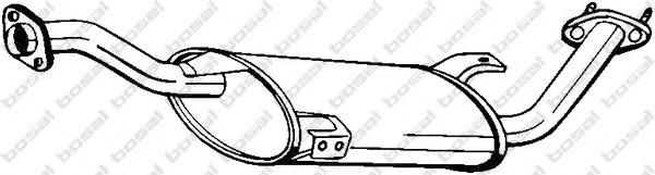 154549 BOSAL Средний глушитель выхлопных газов