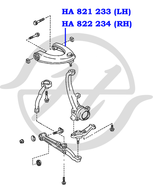 HA822234 HANSE Рычаг передней подвески  верхний правый