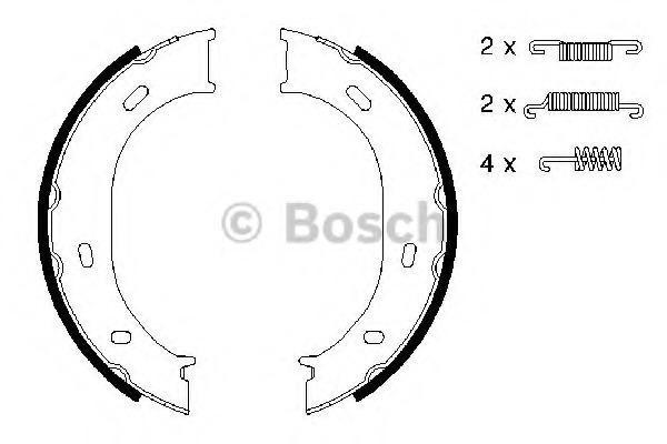 0986487610 BOSCH Комплект тормозных колодок, стояночная тормозная система