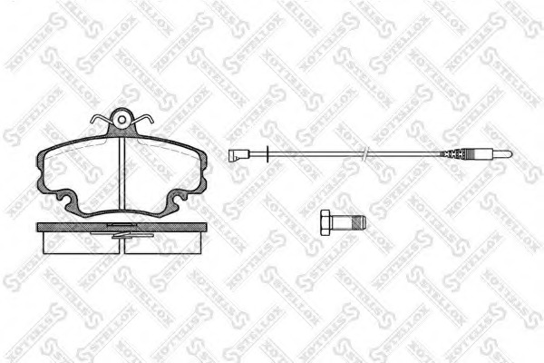 152002SX STELLOX Комплект тормозных колодок, дисковый тормоз