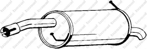 154451 BOSAL Глушитель выхлопных газов конечный