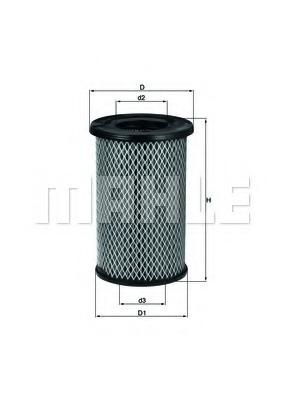 LX2968 MAHLE/KNECHT Фильтр воздушный