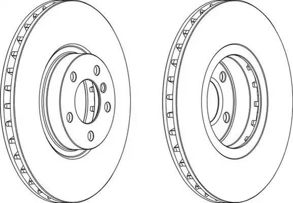 DDF1713C1 FERODO Тормозной диск