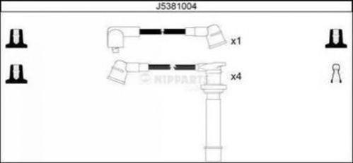 J5381004 NIPPARTS Комплект проводов зажигания
