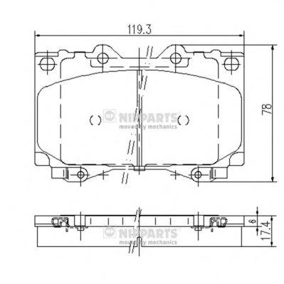 J3602097 NIPPARTS Комплект тормозных колодок, дисковый тормоз