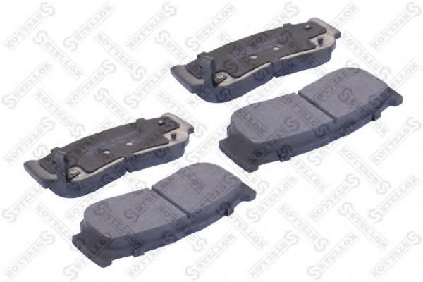 000001BSX STELLOX Комплект тормозных колодок
