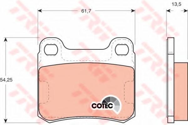 GDB294 TRW Колодки тормозные дисковые, комплект