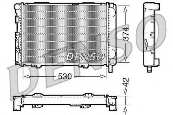 Радиатор, охлаждение двигателя DENSO DRM17025
