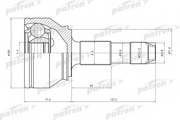 PCV4598 PATRON ШРУС