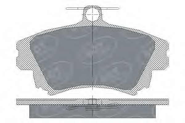 SP240 SCT Колодки торм.перед.MITSUBISHI CARISMA 95-06/COLT 04-/VOLVO S40/V40 -04