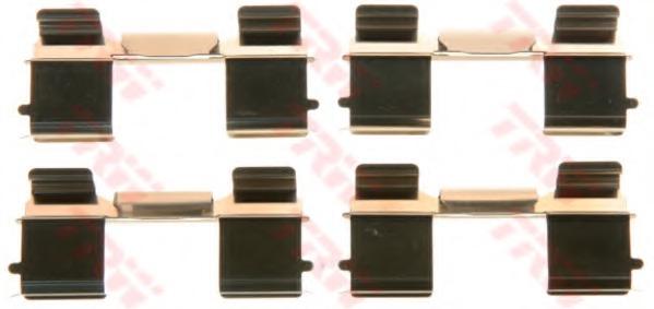 PFK572 TRW Комплектующие, колодки дискового тормоза