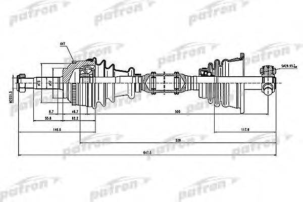 PDS1115 PATRON Полуось