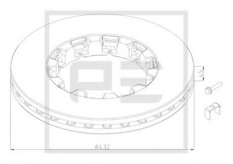 10620380A PE AUTOMOTIVE Тормозной диск