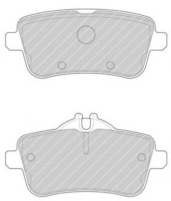 FDB4701 FERODO Комплект тормозных колодок, дисковый тормоз