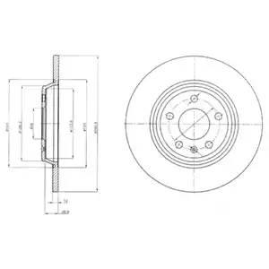 BG4081 DELPHI Тормозной диск
