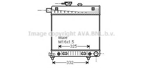 MSA2150 AVA Радиатор, охлаждение двигателя