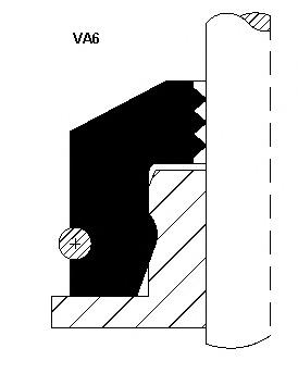 12012438 CORTECO Уплотнительное кольцо, стержень кла