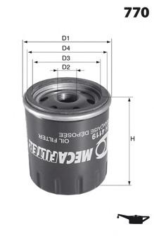 Масляный фильтр MECAFILTER ELH4088
