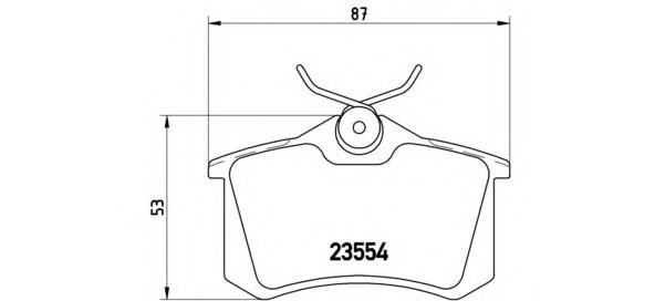 Колодки тормозные дисковые задние, комплект BREMBO P85017